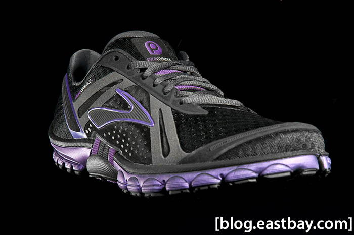 Brooks Pure Cadence Womens Black Anthracite Purple Magic (1)