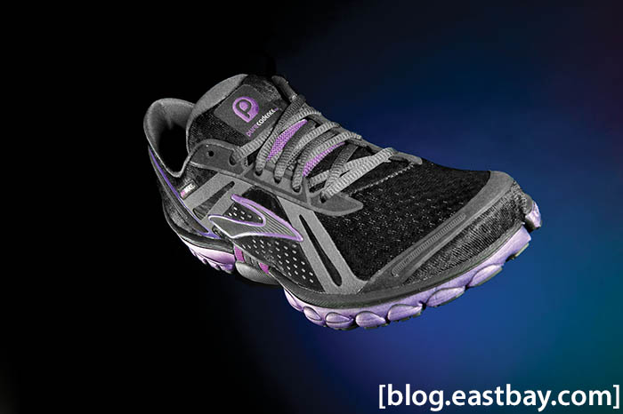 Brooks Pure Cadence Womens Black Anthracite Purple Magic (2)