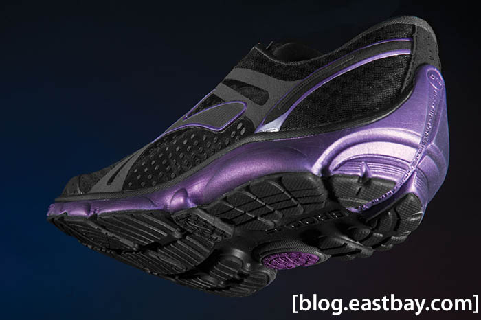 Brooks Pure Cadence Womens Black Anthracite Purple Magic (4)