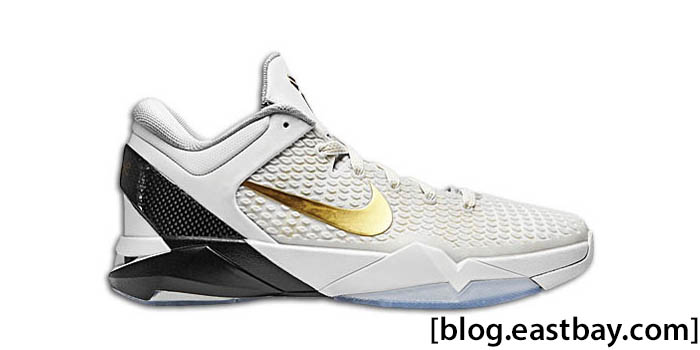 Nike Kobe VII Elite Home White Black Gold 511371-100