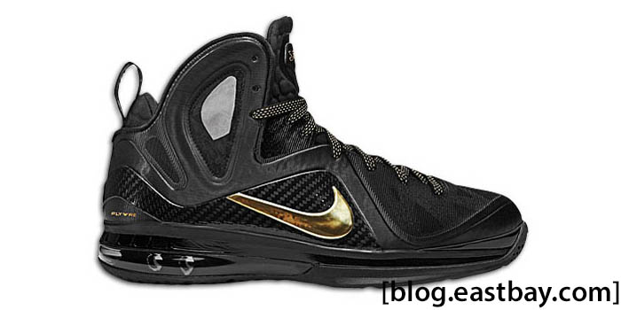 Nike LeBron 9 P.S. Elite Away Black Metallic Gold 516958-002
