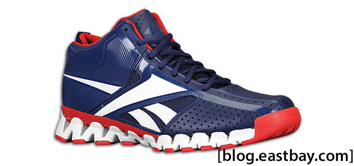 Reebok Zig Encore John Wall Shoes Navy White Red J91615