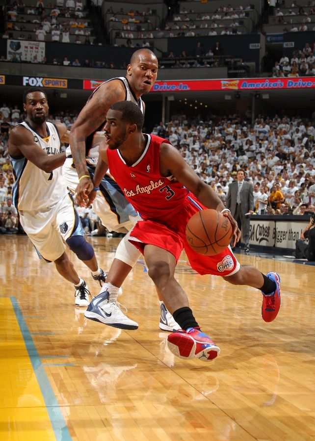 Chris Paul wearing Jordan CP3.V