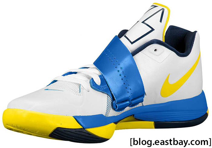 pretty nice 5fd14 e3c12 Nike Zoom KD IV White Photo Blue Midnight Navy Tour Yellow 473679-102 (2