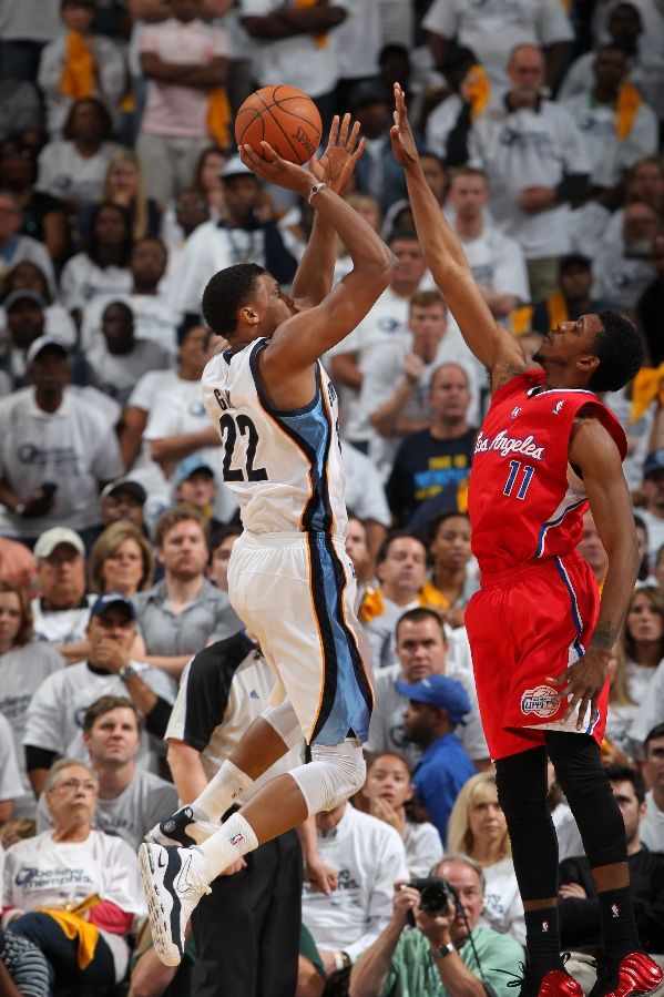 Rudy Gay wearing Nike Air Max Uptempo