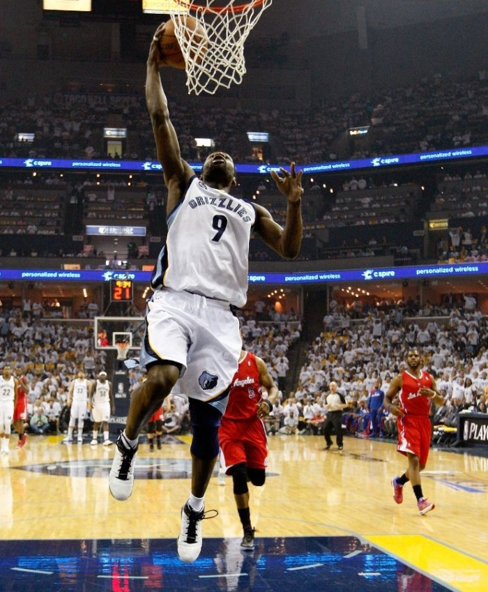 Tony Allen wearing adidas adiZero Rose