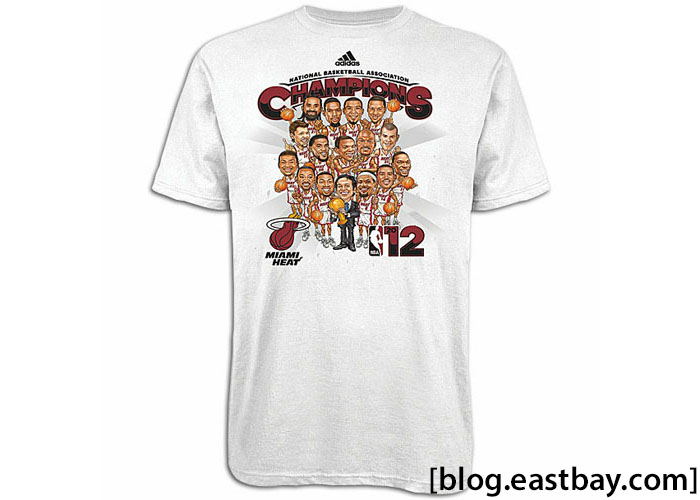 adidas Miami Heat NBA Caricature Championship T-Shirt