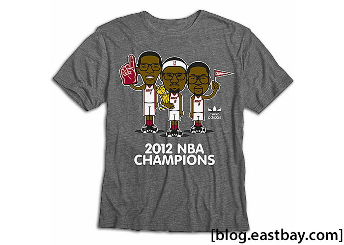 adidas NBA Miami Heat Geek Championship T-Shirt