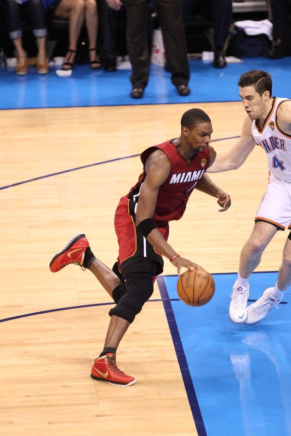 Chris Bosh wearing Nike Air Max Hyperdunk 2011 Finals PE