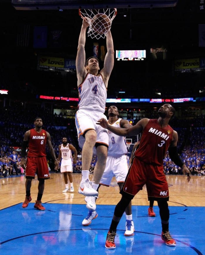 Nick Collison wearing Nike Zoom KD III