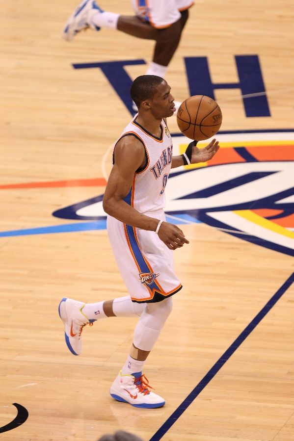 Russell Westbrook wearing Nike Zoom Hyperfuse