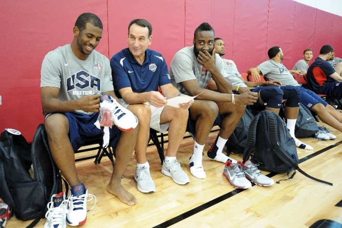 Chris Paul wearing Jordan CP3.V USA