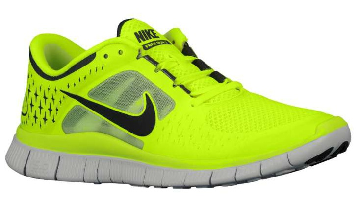Available: Nike Free Run 3 – Volt/Pure Platinum