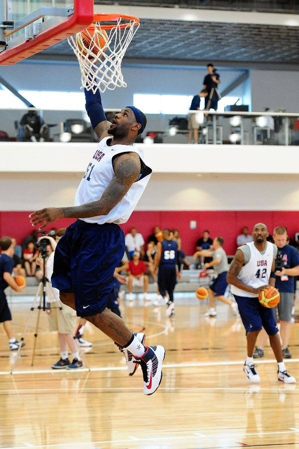 LeBron James wearing Nike Lunar Hyperdunk USA