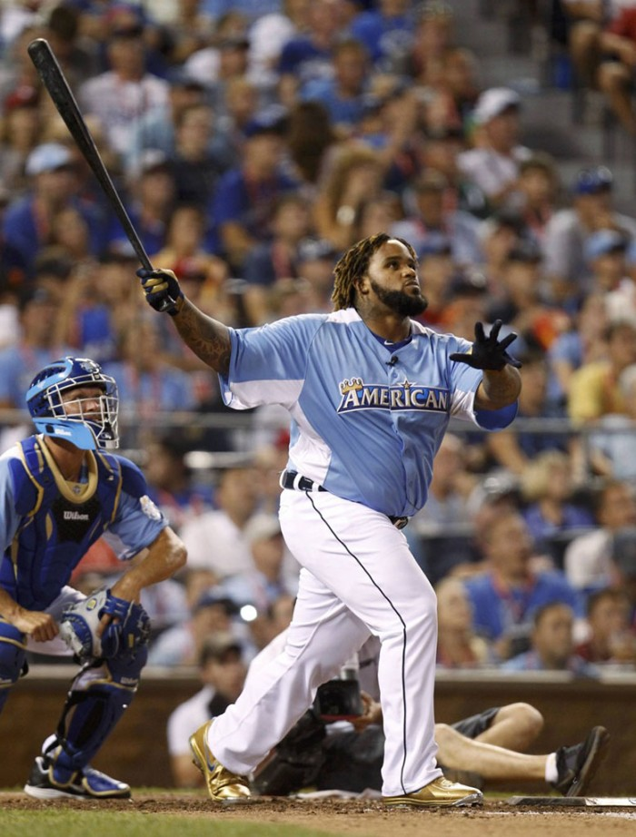 Prince Fielder wearing Nike Air Max MVP Elite Metal Home Run Pack