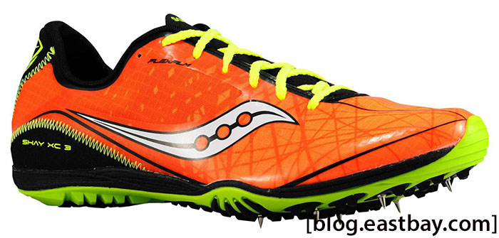 Saucony Shay XC3 Spikes Men Vizpro Orange Black Citron (1)