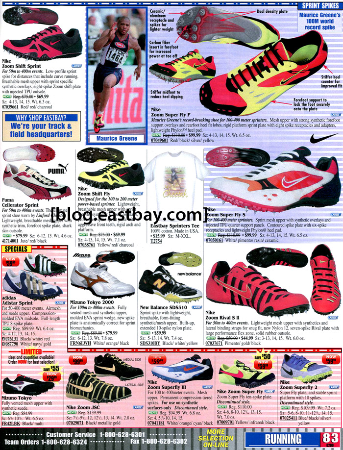 28f451d4c Eastbay Memory Lane  Track and Field Footwear Circa 2000