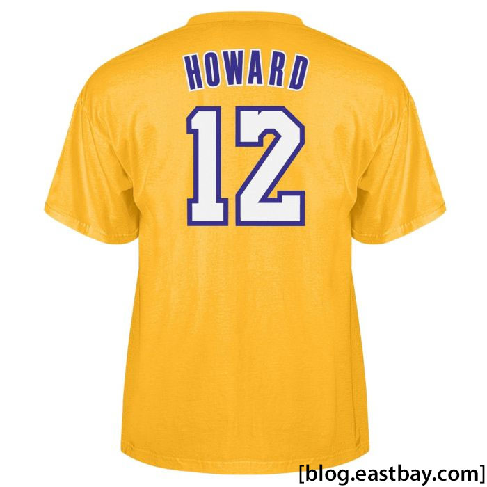 adidas dwight howard los angeles lakers t shirts eastbay