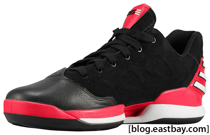 adidas Rose 2.5 Low Black White Light Scarlet G48767 (2)