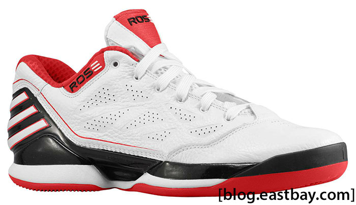 adidas adiZero Rose 2.5 Low White Light Scarlet G56190 (1)