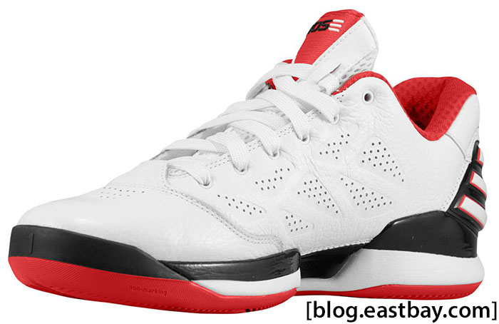 adidas adiZero Rose 2.5 Low White Light Scarlet G56190 (2)
