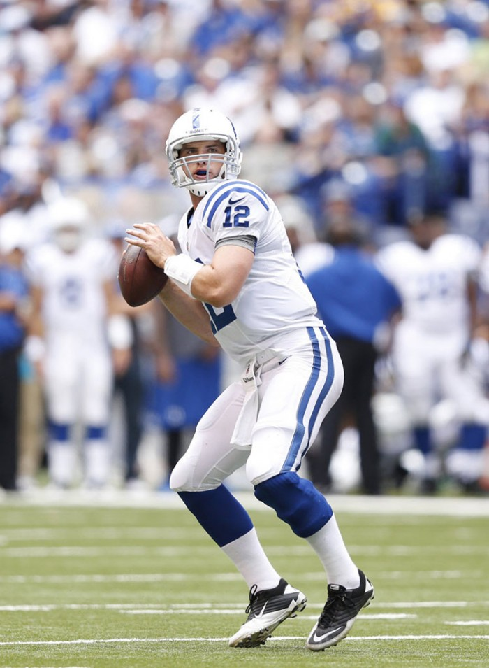 Andrew Luck wearing Nike Super Speed TD