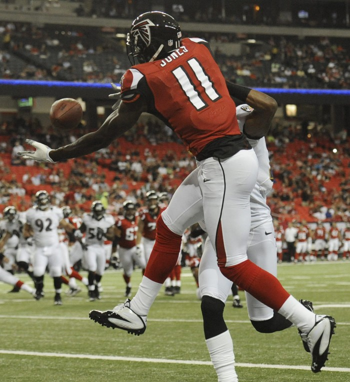 Julio Jones wearing Under Armour Mercenary III 3