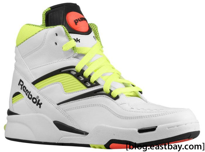 Reebok Twilight Zone Pump White Black Neon J10323 (1) ... 8a00dc739