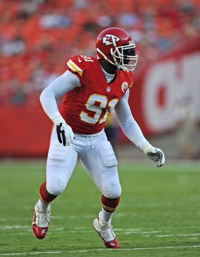Tamba Hali wearing Nike Air LT 2.1 D