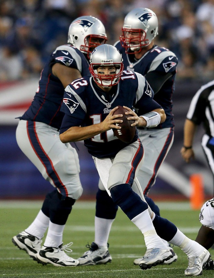 Tom Brady wearing Under Armour Nitro Diablo RM