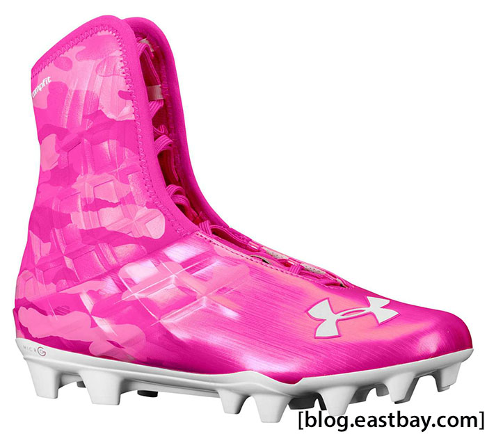 484f0c526dd Under Armour Highlight MC Tropic Pink White Breast Cancer Awareness (1) ...