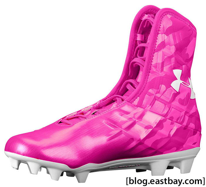 Under Armour Highlight MC Tropic Pink White Breast Cancer Awareness (2)