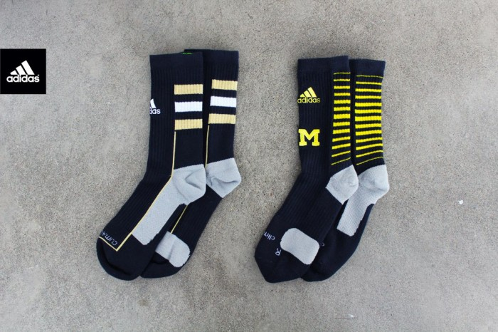 adidas Team Speed Crew Socks // Michigan vs. Notre Dame