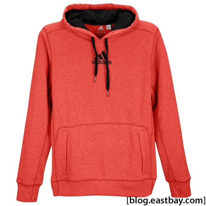 adidas Ultimate Tech Fleece Hoodie Light Scarlet Black