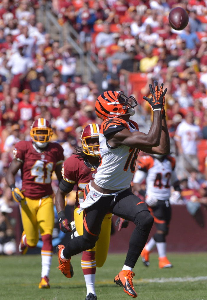AJ Green wearing Nike Vapor Talon Elite 3/4