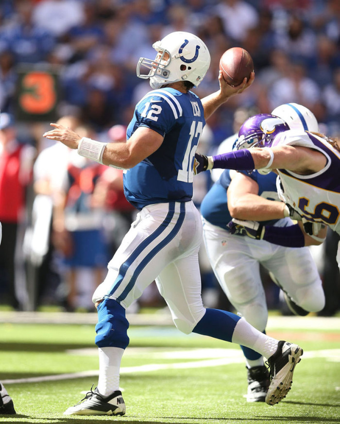 Andrew Luck wearing Nike Super Speed TD Low