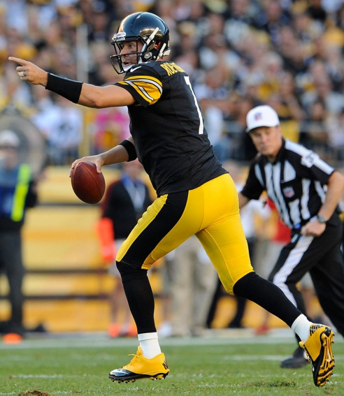 Ben Roethlisberger wearing Nike Lunar Super Bad Pro TD