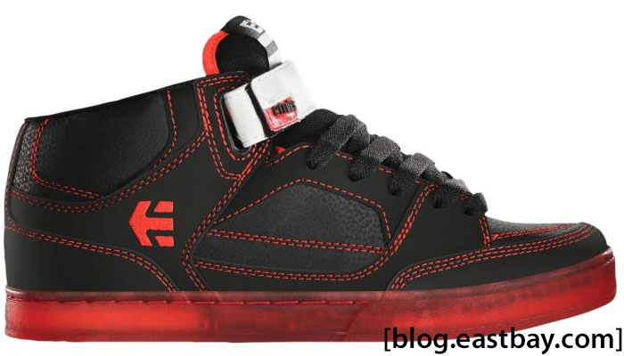 etnies Number Mid Black Red