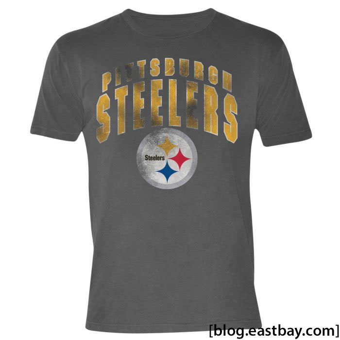 G-III NFL Pigment Dyed Distressed T-Shirt Pittsburgh Steelers