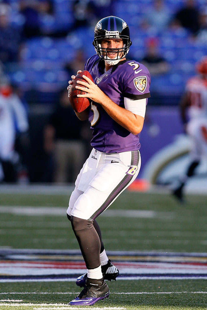 Joe Flacco wearing Nike Lunar Superbad Pro TD