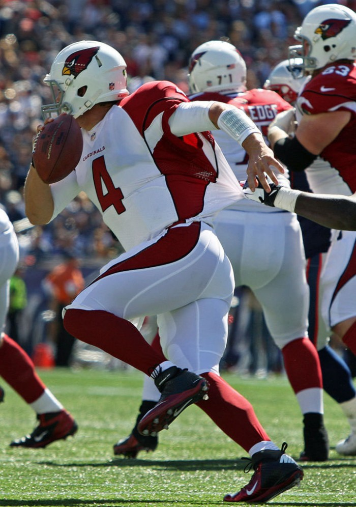 Kevin Kolb wearing Nike Lunar Super Bad Pro D