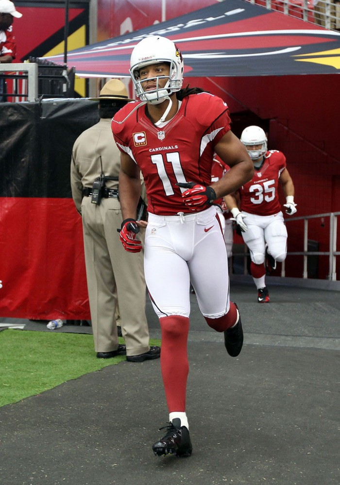 Larry Fitzgerald wearing Nike Vapor Talon Elite Low