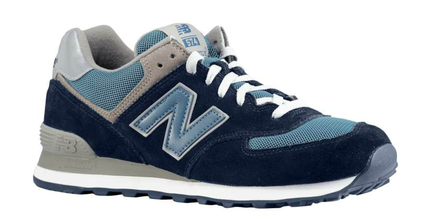 new balance 574 navy blue silver