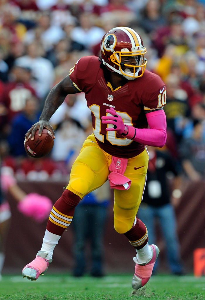 Robert Griffin III wearing adidas adiZero 5-Star BCA