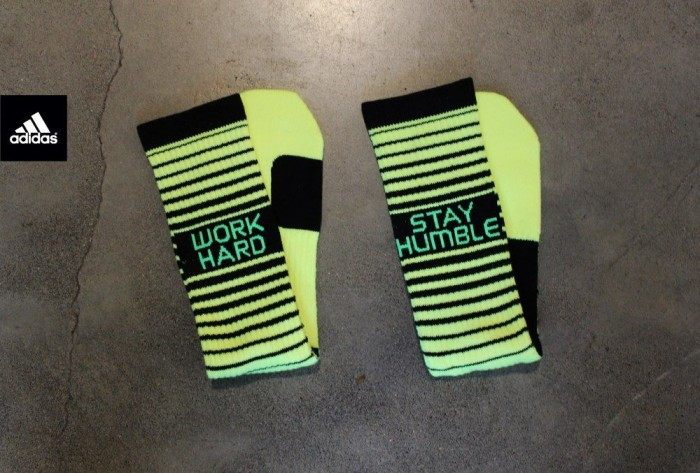 adidas RG3 RGIII Work Hard Stay Humble Team Speed Crew Socks