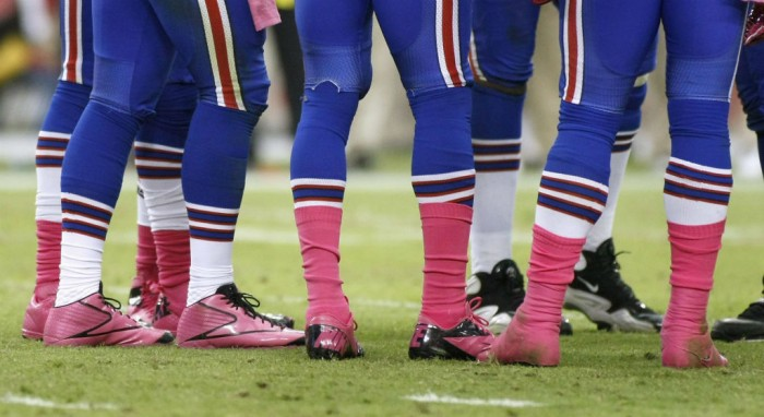 Buffalo Bills wear Pink Breast Cancer Awareness Cleats
