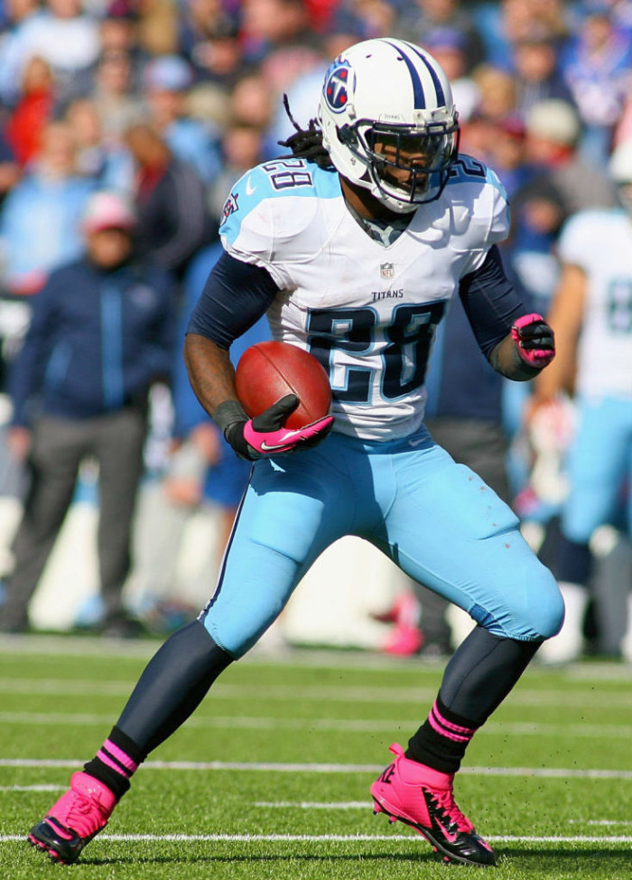 Chris Johnson wearing Nike Lunar Superbad Pro TD Pink