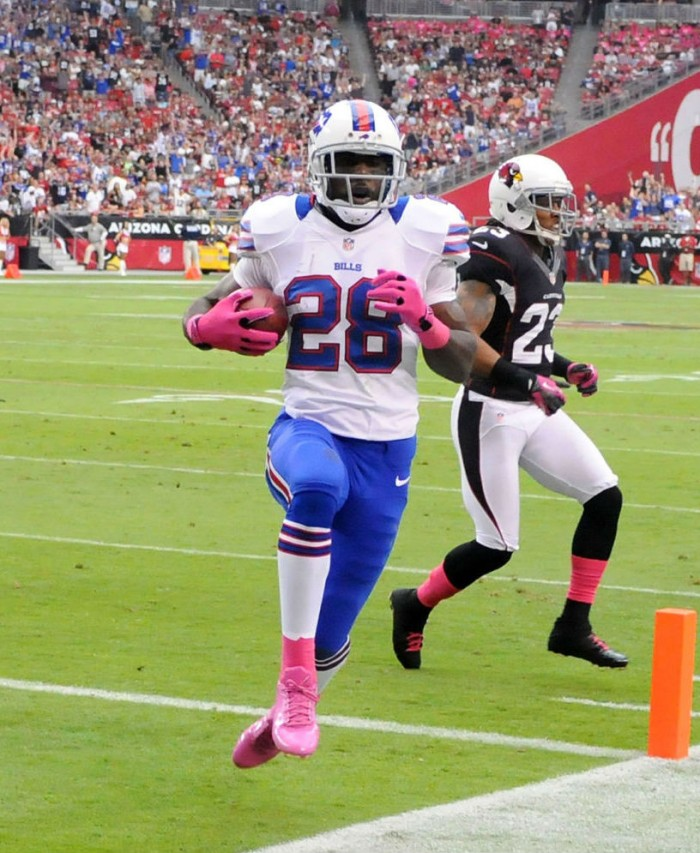 C.J. Spiller wearing adidas adiZero Smoke Low BCA