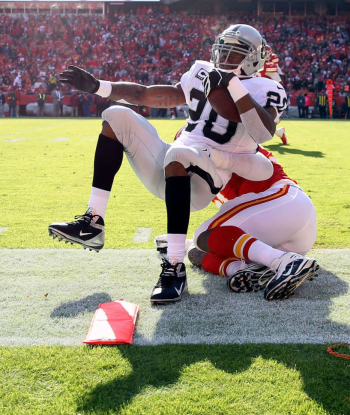 Darren McFadden wearing Nike Alpha Talon Elite 3/4