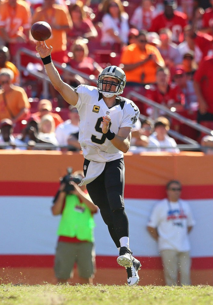 Drew Brees wearing Nike Lunar Superbad Pro TD
